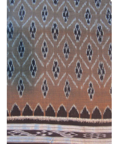 Nuapatna Brown Cotton Saree
