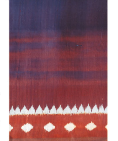 Maroon And Brick Khandua Silk Saree