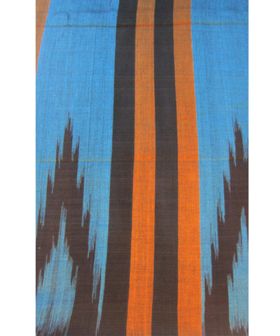 Nuapatna Brown and Copper Sulphate Cotton Saree