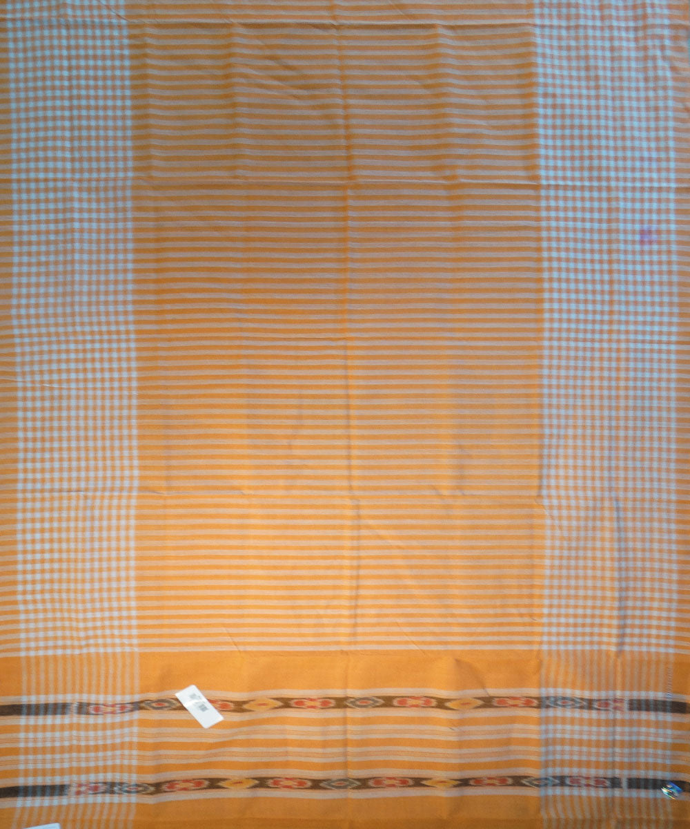 Orange Nuapatna Cotton Saree