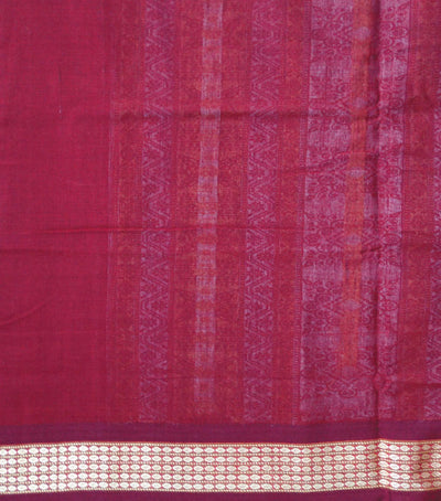 Unique Traditional Orange And Maroon Bomkai Cotton saree