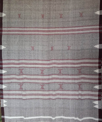 Cotton Grey Handwoven Natural Dyed Kotpad Dupatta