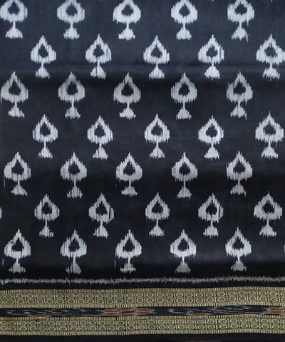 Black Purple Handloom Khandua Ikat Silk Saree