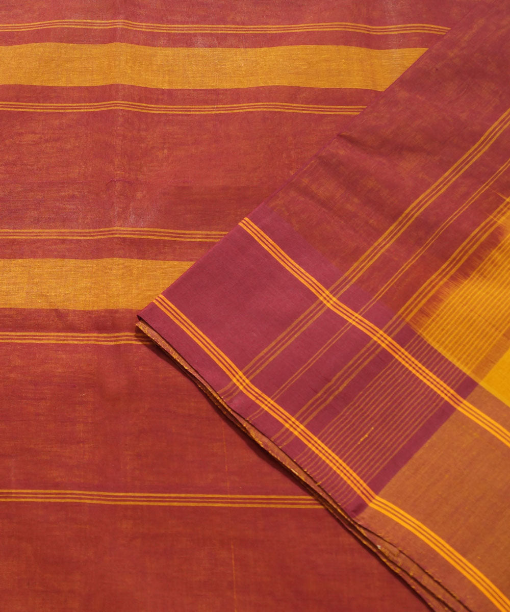 Salem Handloom Cotton Saree in Yellow and Red