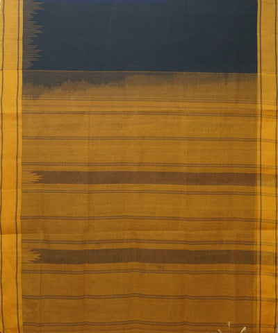 Salem Handloom Cotton Saree in Black Yellow