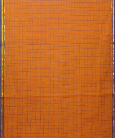 Orange and Purple Salem Handloom Cotton Saree