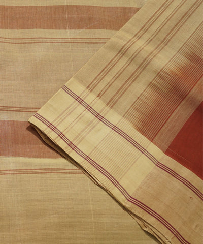 Salem Handloom Cotton Saree in Brick Red