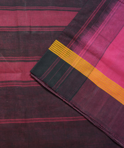 Salem Handloom Cotton Saree in Pink and Black