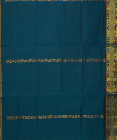 Blue Sapphire Handloom Salem Cotton Saree