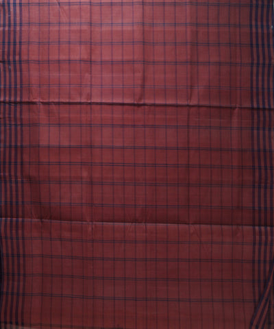 Loomworld Handwoven Peach And Blue Salem Cotton Saree