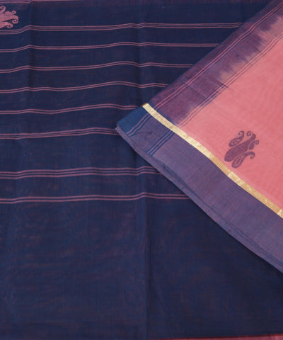 Handloom Pink Salem Cotton Saree