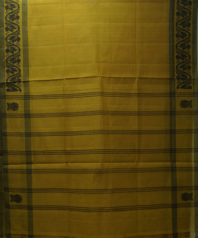 Handloom Dessert Yellow Salem Cotton Saree