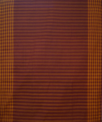 Salem Handloom Maroon Mustard Cotton Sarees