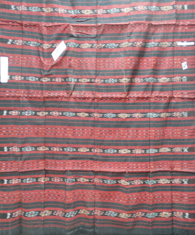 Black and Maroon Nuapatna Cotton Dress Material