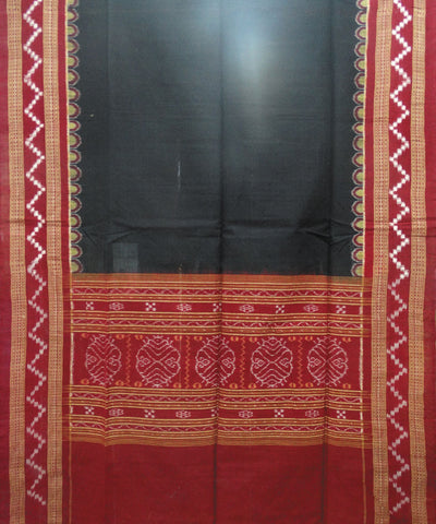 Black and Maroon Pasapalli Sambalpuri Cotton Dress Material