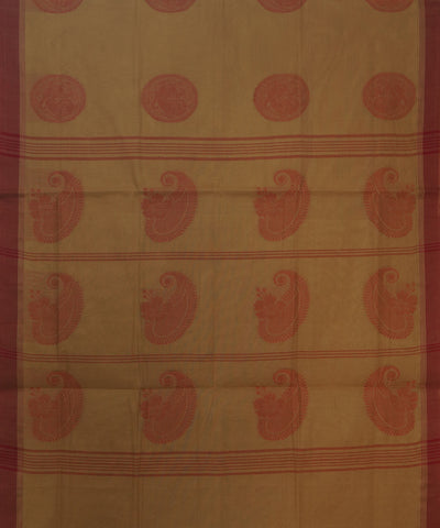 Light Brown Handwoven Cotton Saree