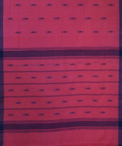 Pink Purple Handwoven Salem Cotton Saree