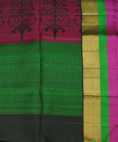 Handwoven Black Soft Silk Sarees