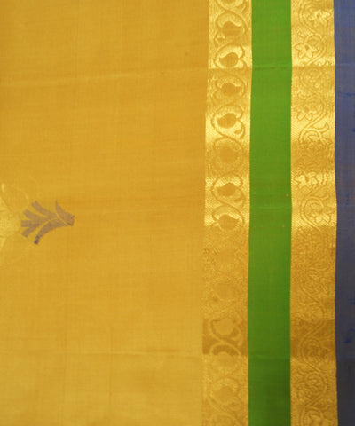 Handloom Yellow Soft Silk Sarees