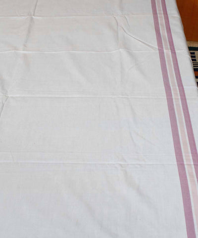 Plain White Handwoven Cotton Bedsheet