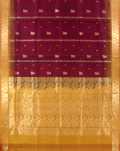 Madhavaram Pure Silk Fancy Saree Maroon