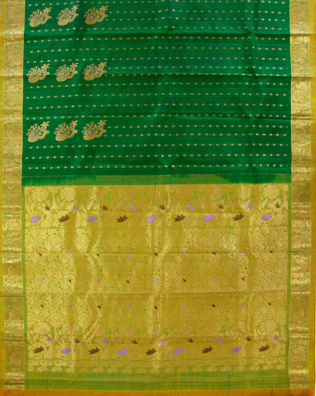 Dharmavaram Kanchi Type Saree Dark Green