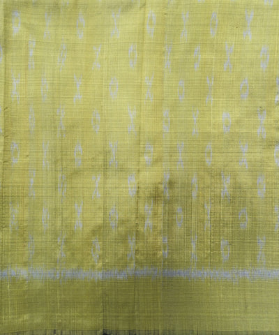 Shiny Light Green Sambalpuri Silk Stole