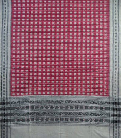 Traditional Baby Pink And Cream Ikat tie And dye Cotton Dupatta