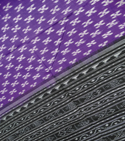 Traditional Violet And Black Ikat tie And dye Cotton Dupatta