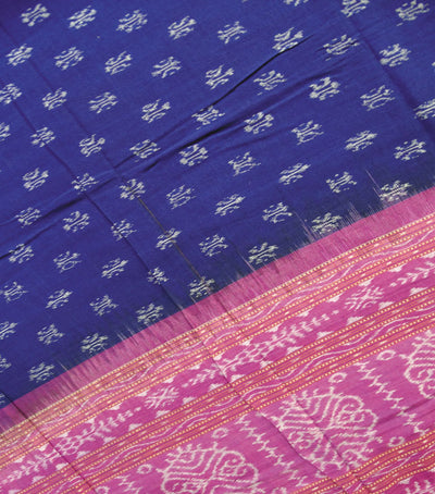 Exclusive Traditional Blue And Purple Ikat tie And dye Cotton Dupatta