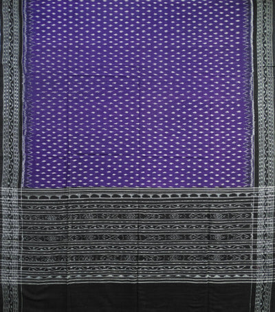 Exclusive Traditional Violet And Black Ikat tie And dye Cotton Dupatta