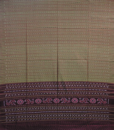 Exclusive Bistre Brown And Maroon Traditional Ikat tie And dye Cotton Dupatta
