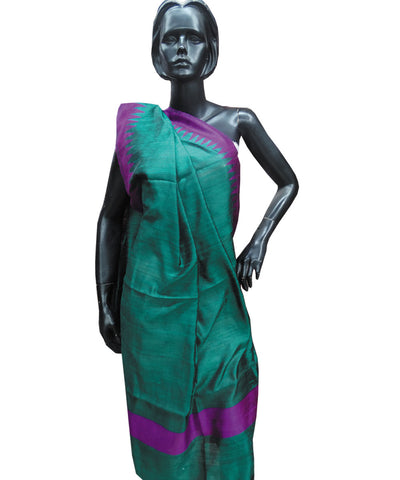 Shiny Green and Purple Bapta Dupatta