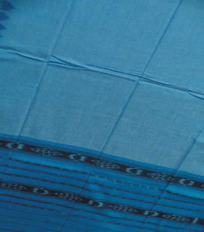 Exclusive Bright Cerulean And CG Blue Traditional Ikat tie And dye Cotton Dupatta