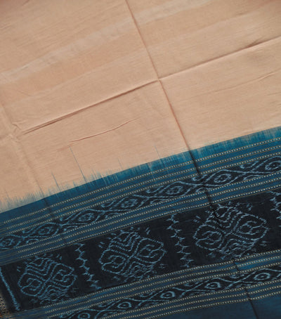 Traditional Off White And Blue Sapphire Sambalpuri Ikat tie And dye Cotton Dupatta