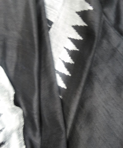 Shiny Black and White Bapta Dupatta