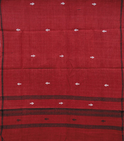 Unique Traditional Maroon kotpad Cotton Stole