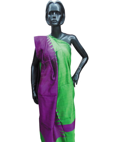 Shiny Purple and Green Bapta Dupatta