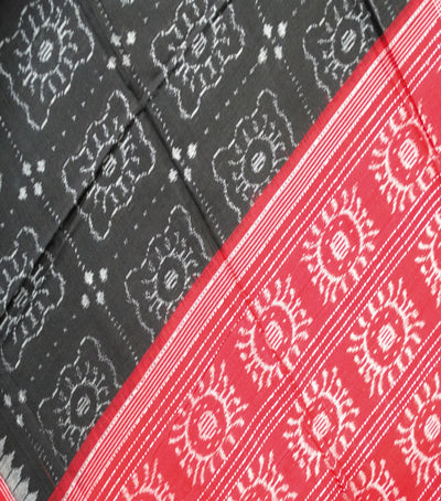 Exclusive Traditional BlackMaroon And Gray Traditional Ikat tie And dye Cotton Dupatta