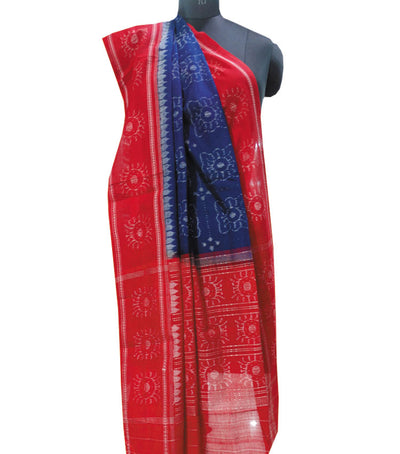 Exclusive Traditional Duke BlueMaroon And Gray Traditional Ikat tie And dye Cotton Dupatta