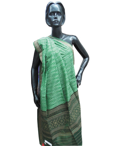 Green  Sambalpuri Cotton Stole