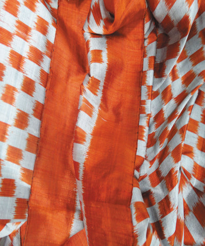 Orange  Sambalpuri Silk Stole