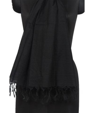 Mangalgiri Black Cotton Dupatta