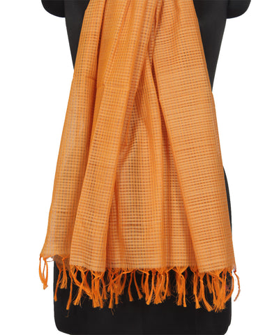 Mangalgiri Lignt Brown Cotton Dupatta