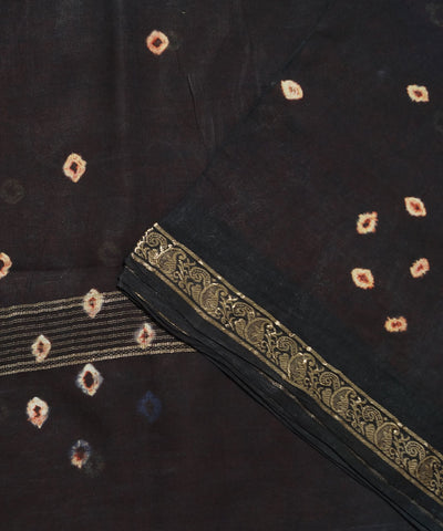 Madurai Sungudi Red and Black Cotton Saree