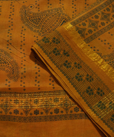 Madurai Sungudi Pink and Brown Cotton Saree