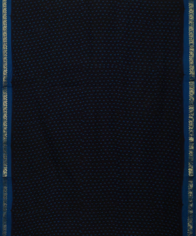 Madurai Sungudi Black and Blue Cotton Saree