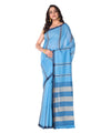 Blue Stripe Bengal Handloom Cotton Saree