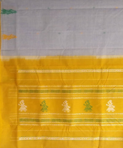 White gollabhama handwoven cotton saree