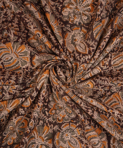 Hand Block Kalamkari Print Cotton Fabric